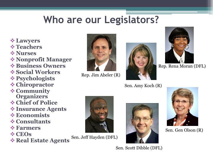 Who are our legislators