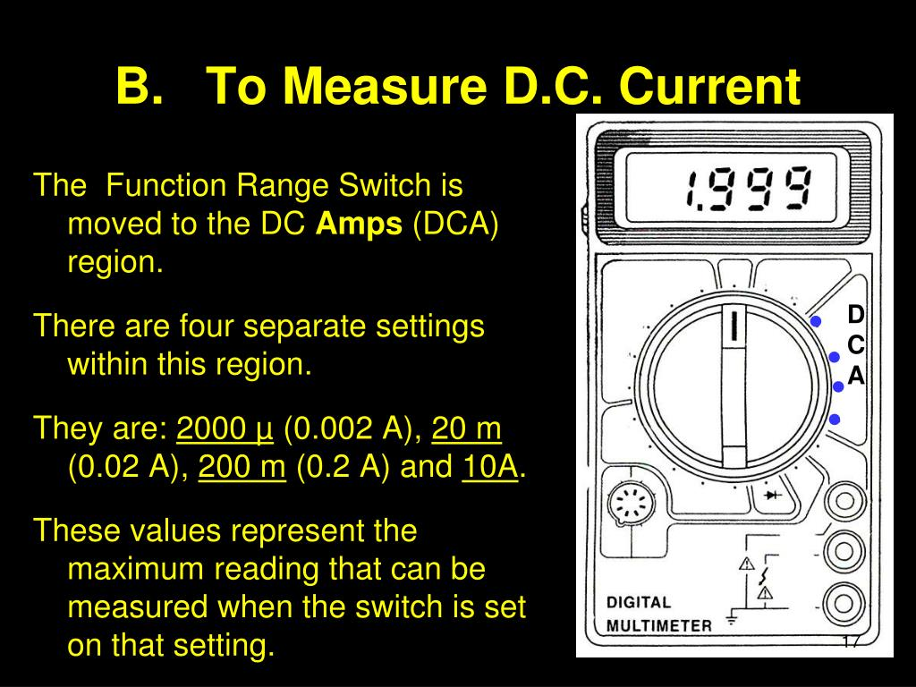PPT - Operating a Amp – Volt – Ohm Meter PowerPoint Presentation