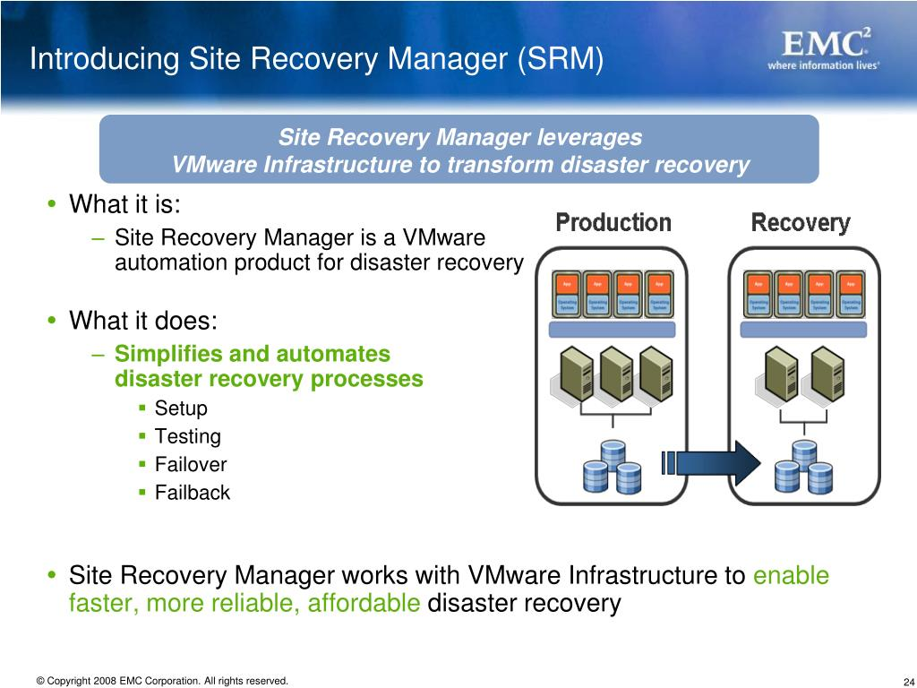 PPT - Backup/Recovery in a VMware Infrastructure PowerPoint