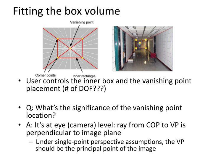 Fitting the box volume