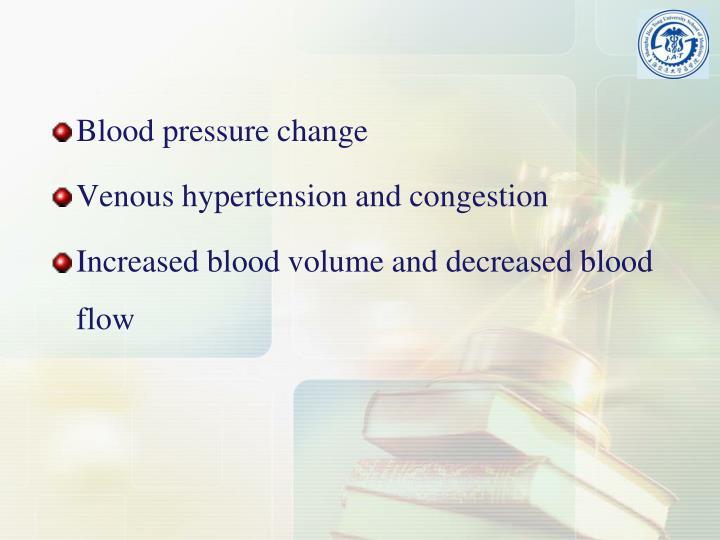 Blood pressure change