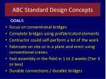 abc standard design concepts