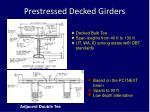 prestressed decked girders