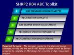 shrp2 r04 abc toolkit