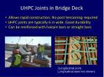 uhpc joints in bridge deck