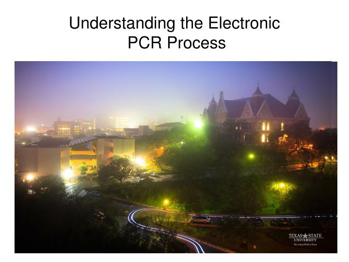 understanding the electronic pcr process n.