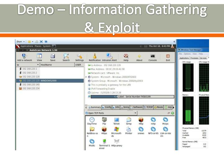 Demo – Information Gathering & Exploit
