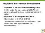 proposed intervention components