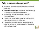 why a community approach