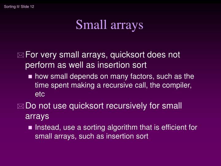 Small arrays