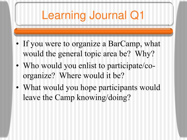Learning Journal Q1