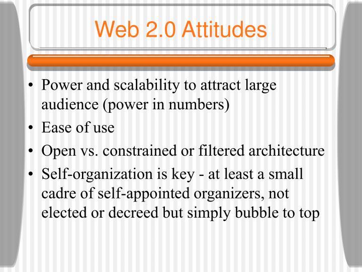 Web 2.0 Attitudes