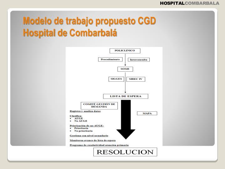 Modelo de trabajo propuesto CGD