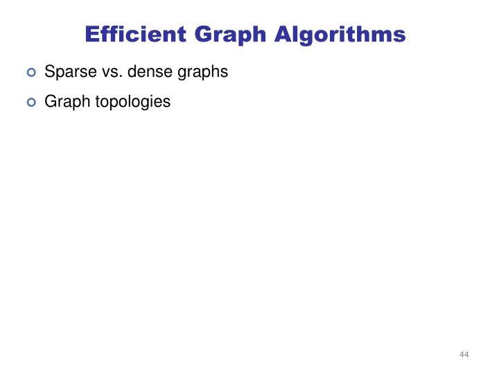 Efficient Graph Algorithms
