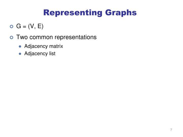 Representing Graphs