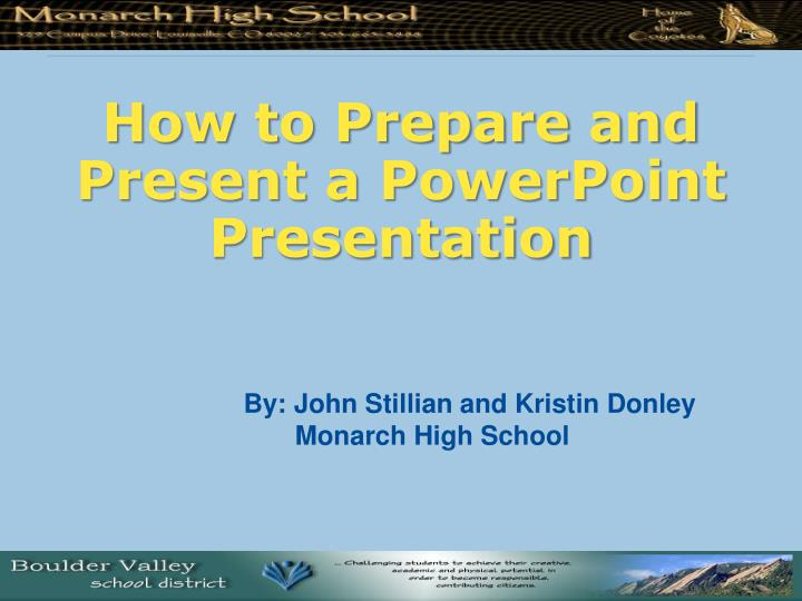 how to prepare and present a powerpoint presentation n.