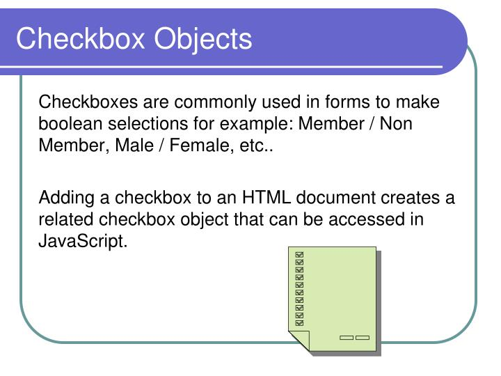 Checkbox Objects