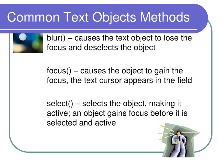 Common Text Objects Methods