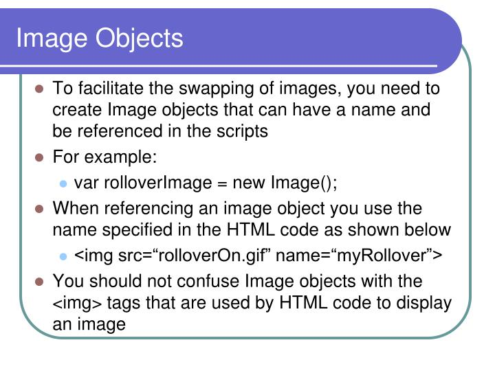 Image Objects