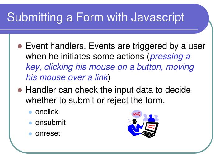 Submitting a Form with Javascript