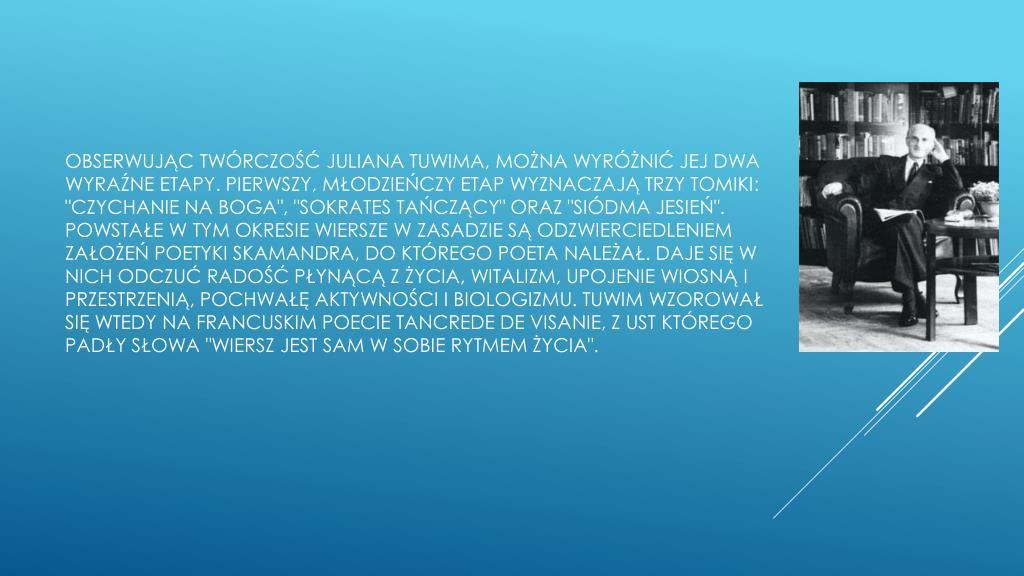 Ppt Twórczość Juliana Tuwima Powerpoint Presentation Id