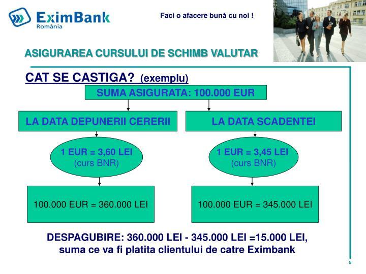 ASIGURAREA CURSULUI DE SCHIMB VALUTAR