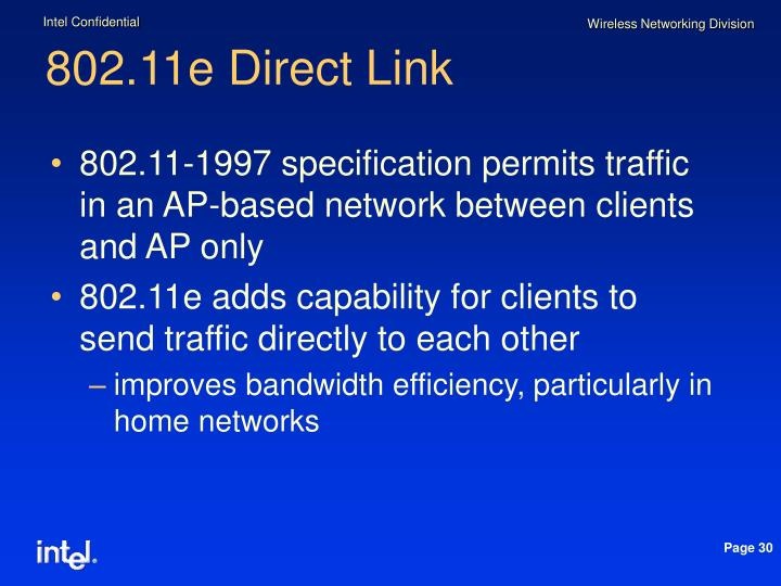 802.11e Direct Link