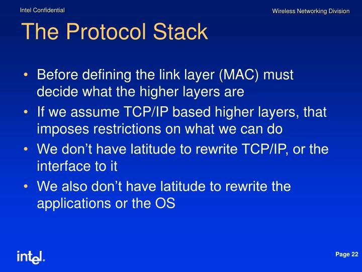 The Protocol Stack