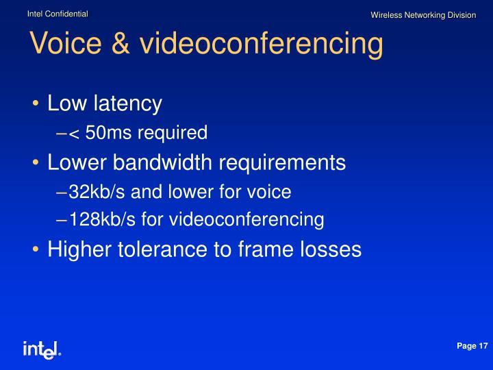 Voice & videoconferencing
