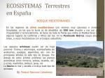 ecosistemas terrestres en espa a