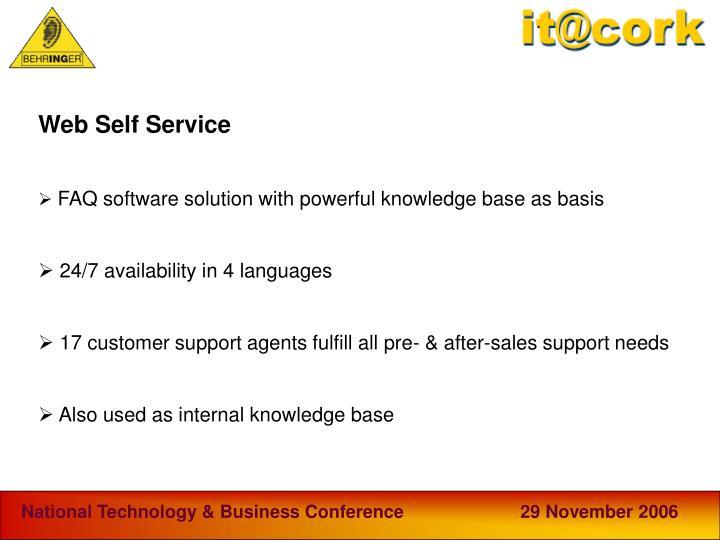Web Self Service
