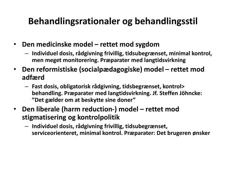 Behandlingsrationaler og behandlingsstil