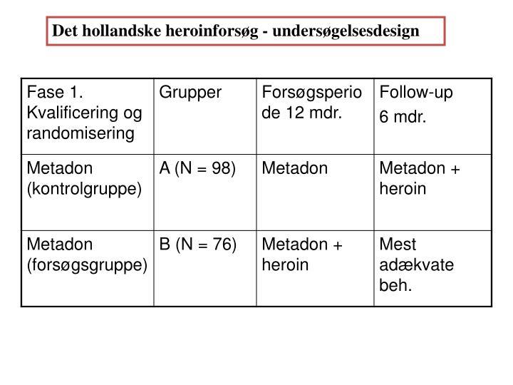 Det hollandske heroinforsøg - undersøgelsesdesign