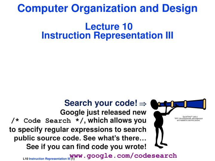 Ppt Computer Organization And Design Lecture 10 Instruction Representation Iii Powerpoint Presentation Id 6076261
