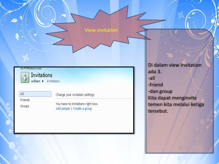 View invitation