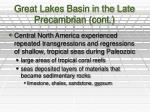 great lakes basin in the late precambrian cont