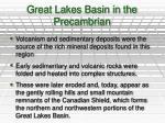 great lakes basin in the precambrian1