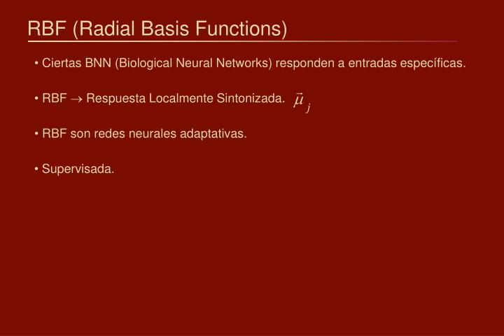 Rbf radial basis functions