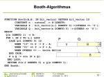 booth algorithmus