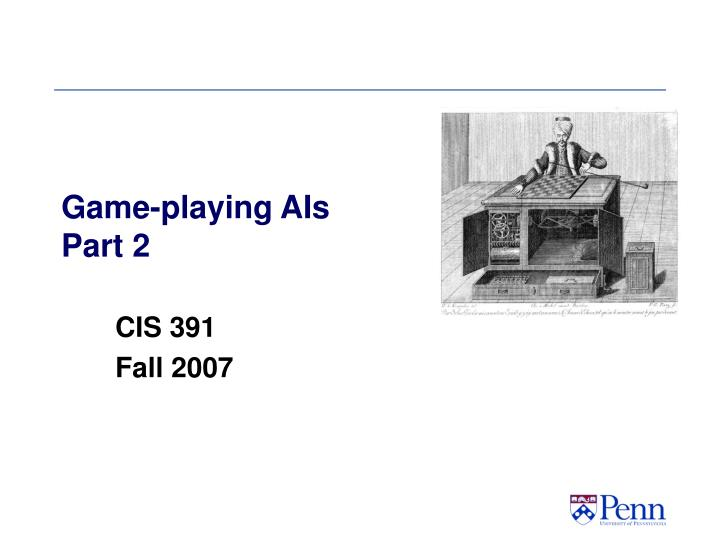 game playing ais part 2 n.