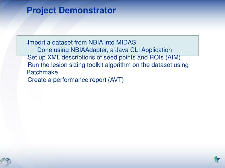 Project Demonstrator
