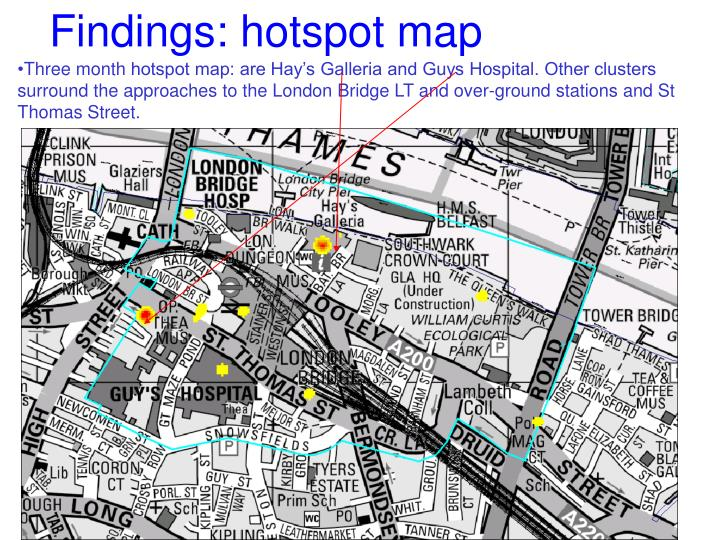 Findings: hotspot map