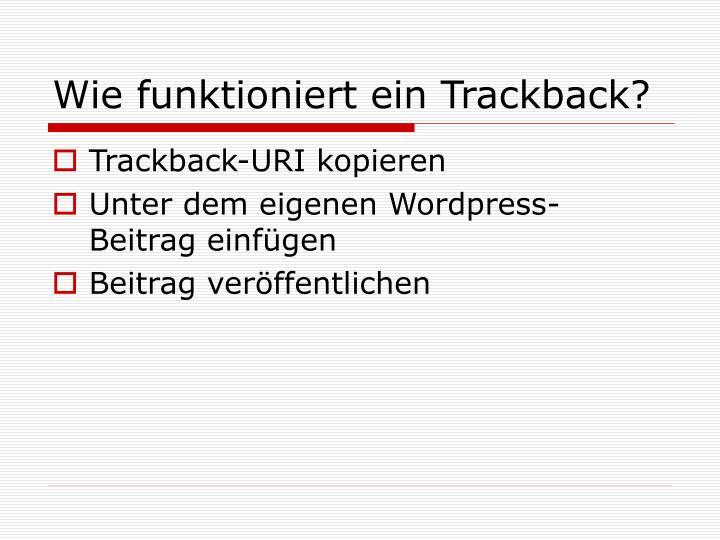 Wie funktioniert ein Trackback?