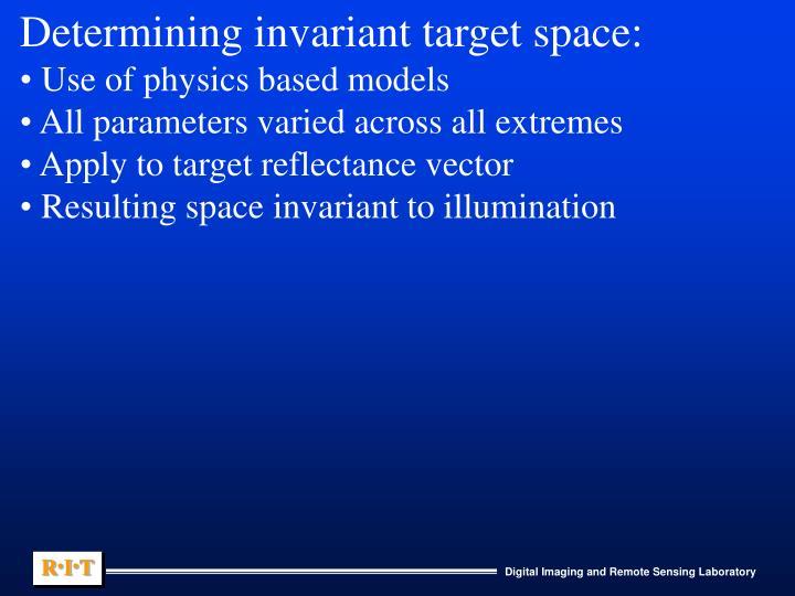 Determining invariant target space: