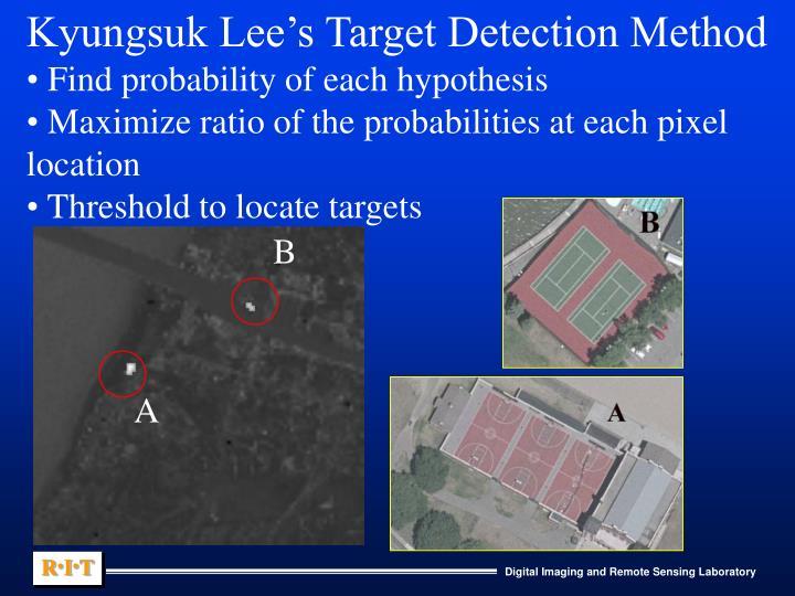 Kyungsuk Lee's Target Detection Method