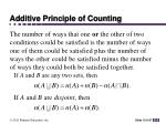 additive principle of counting