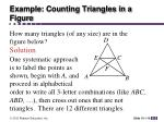 example counting triangles in a figure