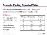 example finding expected value