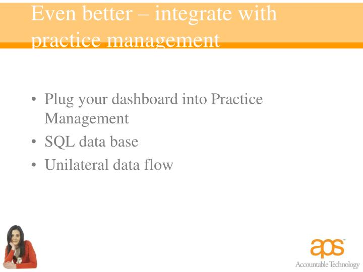 Even better – integrate with practice management