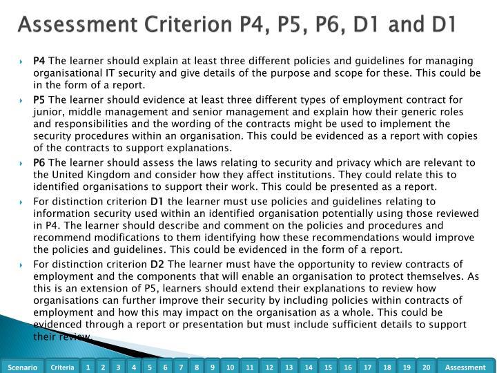 Assessment Criterion